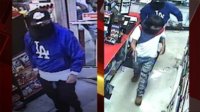 Metro released images of two suspected robbers. (Source: LVMPD)