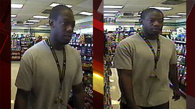 Police said they are searching for a commercial robbery suspect. (Source: LVMPD)