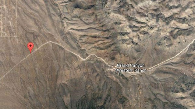 A double fatal accident closed Diamond Bar Road near Grand Canyon West (Google Earth).