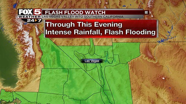 Flash Flood Watch in Nevada and California. (Cassandra Jones/FOX5)