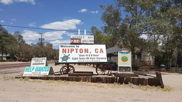 Downtown Nipton, California shown in an undated image. (Homes.com)