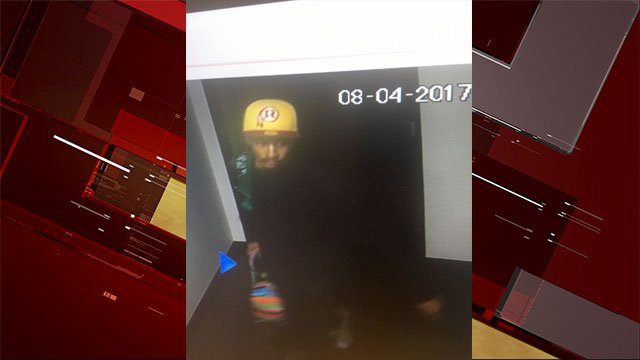 Metro said they are searching for the suspect in a dispensary burglary on Aug. 3, 2017. (Source: LVMPD)