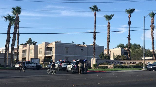 Metro police investigated a homicide near Lake Mead and Hollywood Boulevards. (Jennifer Hurtado / FOX5)