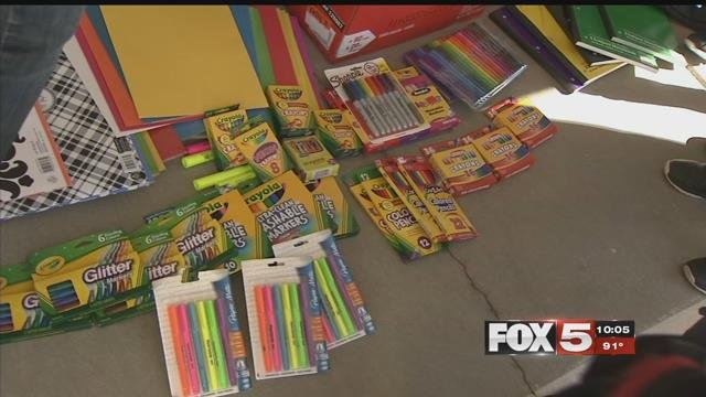 A local organization provided first-time teachers with supplies for the new school year (FOX5).