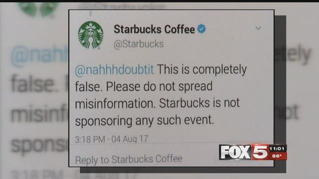 Starbucks confirmed an ad targeting the immigrant community is a hoax (FOX5).