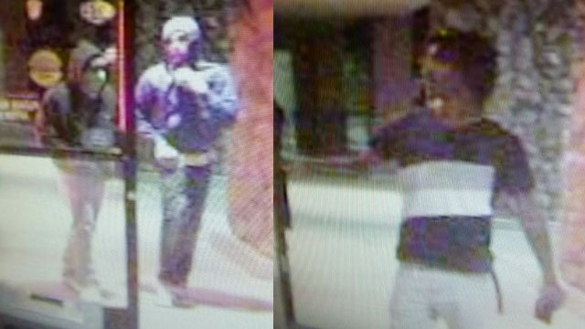 Police said they're searching for three robbery suspects. (LVMPD)