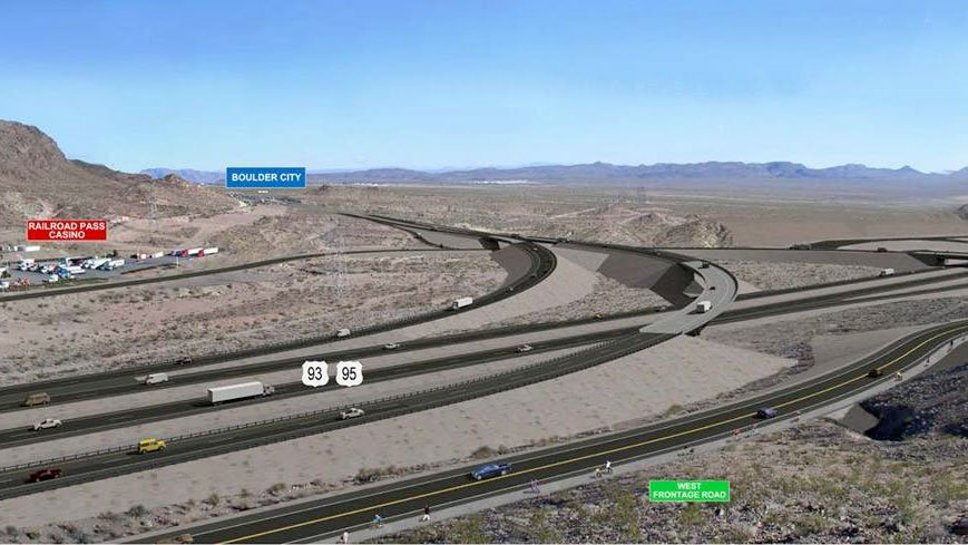 A markup of Interstate 11. (Source: NDOT)