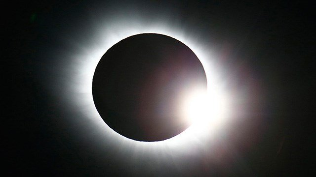 A solar eclipse is seen in Norway. (Photo: Associated Press)