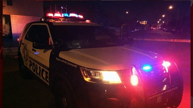 Police said they are investigating a homicide on Dewey Drive. (Luis Marquez/FOX5)