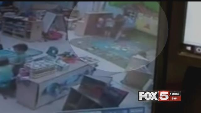 A daycare worker was fired after a video showed her dragging a girl.