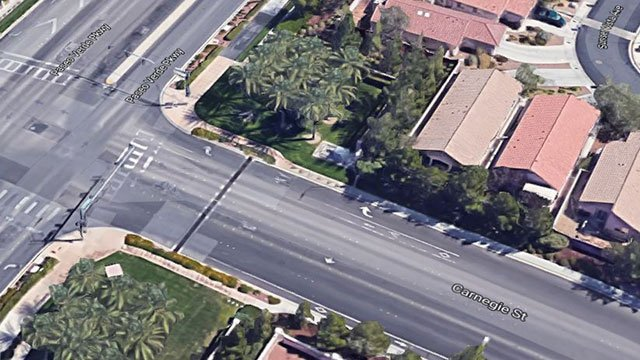 A satellite image of the intersection where a fatal crash took place on Aug. 13 (Google Maps).