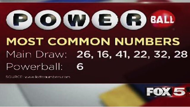 Most common Powerball numbers. (Mike Doria/FOX5)