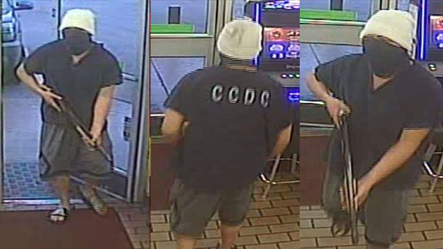 Metro police said they are searching for an armed robber. (Source: LVMPD)