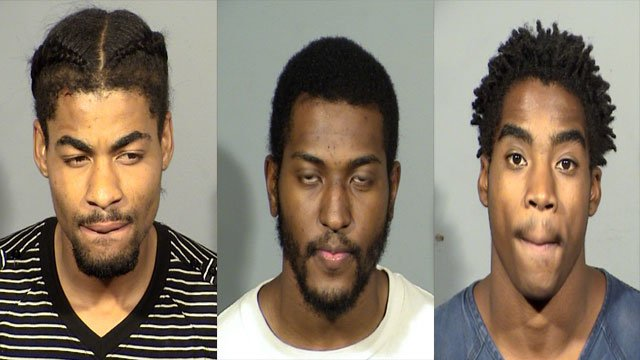 Davontae Wheeler (left), Raekwon Robertson (middle), and Demario Lofton-Robinson (right).  (Source: LVMPD)