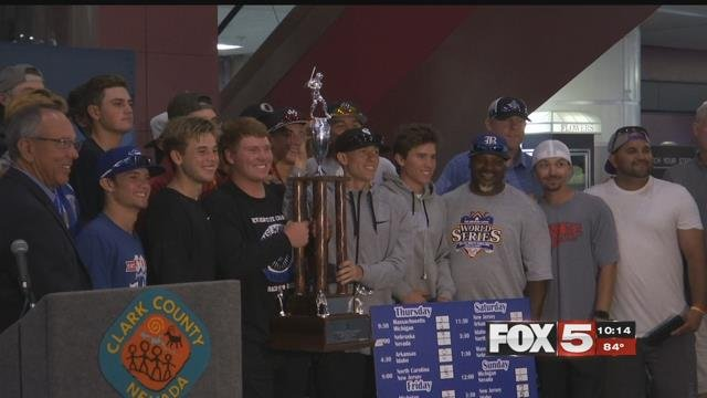 The Southern Nevada Blue Sox won the American Legion National Championship. (FOX5)