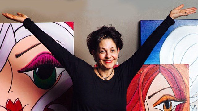 Caryn Citron is an abstract artist who suffered a stroke at age 48. (Photo: citronabstractart.com)
