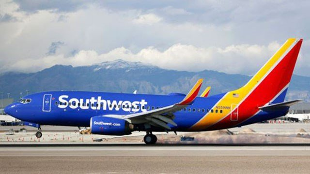 A Southwest Airline plane is shown in an undated image. (Larry MacDougal/Associated Press)