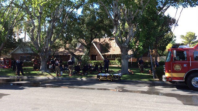 A house fire caused $350,000 worth of damages near Alta and Rancho. (Photo: LVFR)