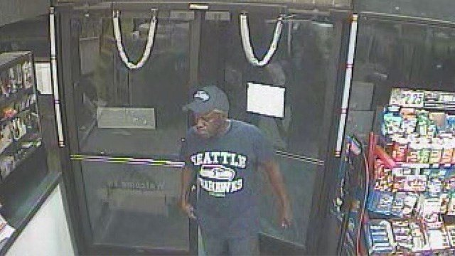 A man in a Seahawks shirt robbed a shop near Nellis and Twain. (LVMPD)