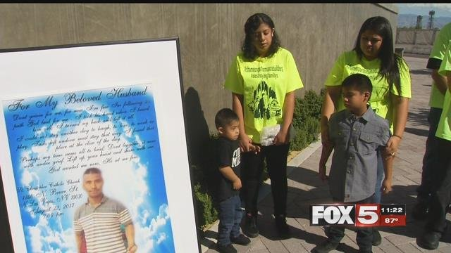 The Bautista family mourns the loss of Ricardo Bautista in the exact spot where he died one year ago (FOX5).