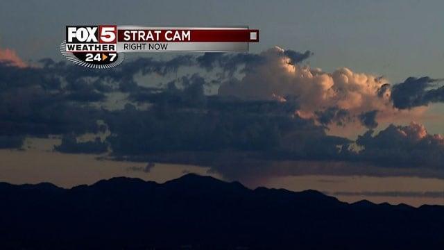 Image of the sunrise from the Stratosphere camera on Aug. 23, 2017. (Cassandra Jones/FOX5)