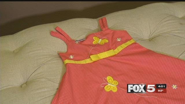 A special needs girl was reprimanded by her school for wearing this dress. (FOX5)