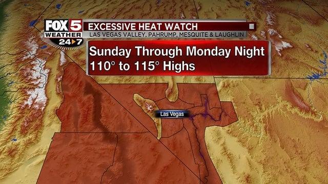 Excessive Heat is in forecast for Sunday, Aug. 27, 2017. (Cassandra Jones/FOX5)