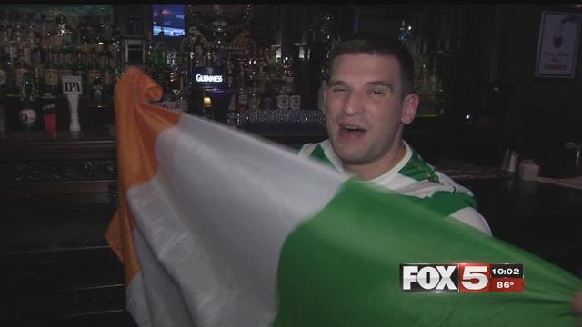Hundreds of Conor McGregor fans made the trip from Ireland to Las Vegas to support their fellow countryman during his fight with Floyd Mayweather Jr.(FOX5)