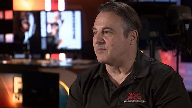 Gavin Maloof sits during an interview with Vince Sapienza (FOX5).