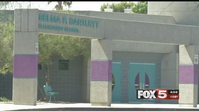 The AC broke in Bartlett Elementary on a 110 degree day. (FOX5)