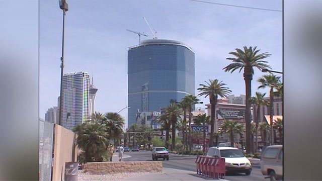 The Fontainebleau on the Las Vegas Strip, seen under construction in this undated photo. (FOX5)