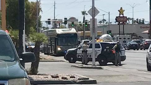 A viewer shared this image of the shooting reported on a RTC bus.