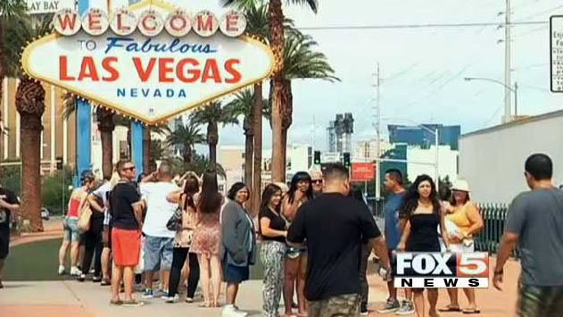 The famous 'Welcome to Las Vegas' sign is pictured here in this undated image. (File/FOX5)