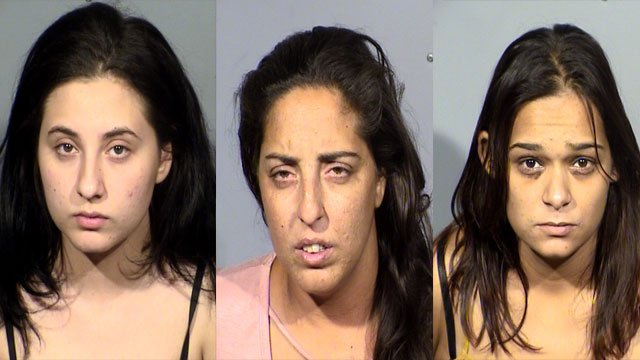 Amanda Miller (left), Barbara Miller (middle), and Sophia Nicholas (Right). (Source: LVMPD)