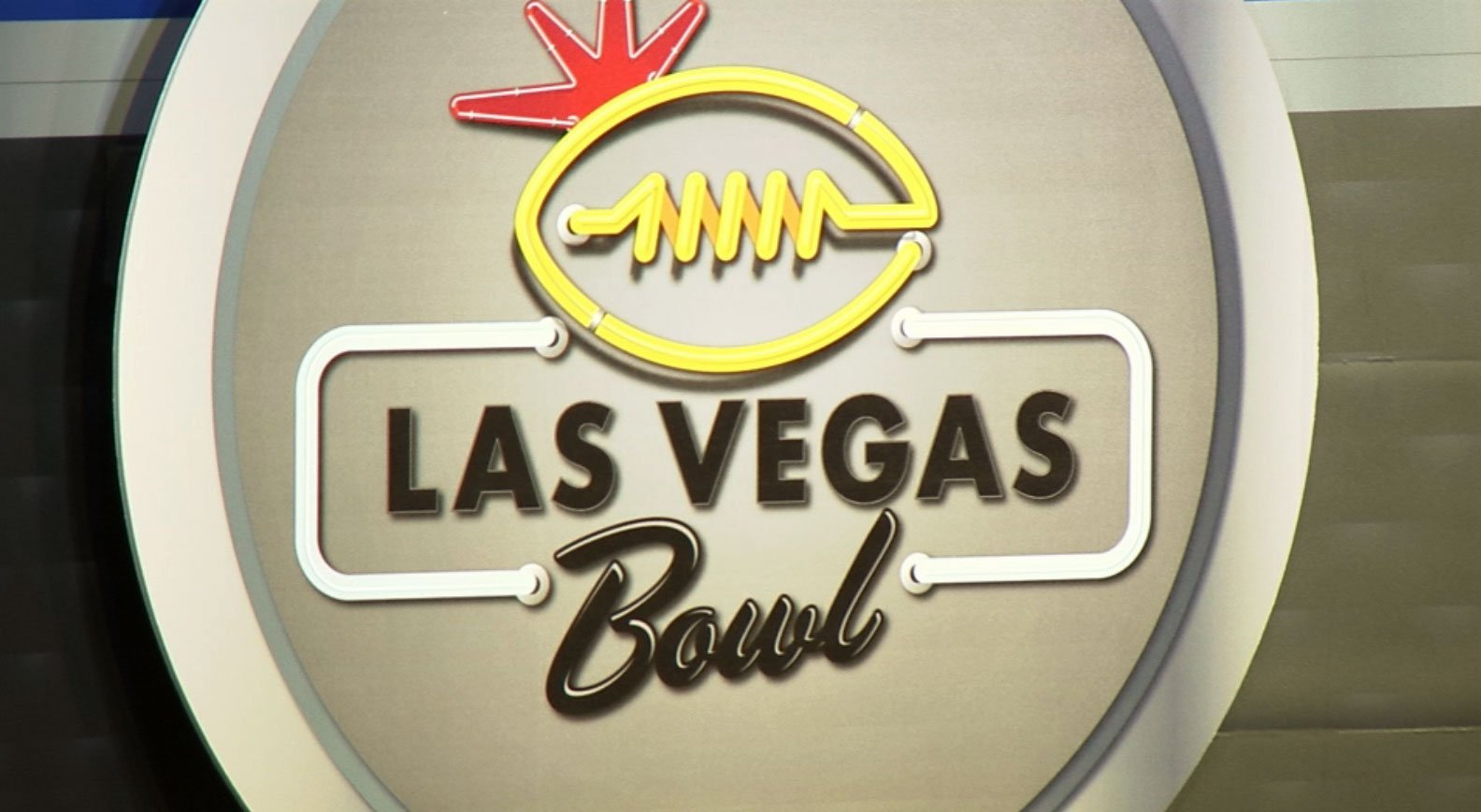 The logo for the Las Vegas Bowl is shown in an undated image.