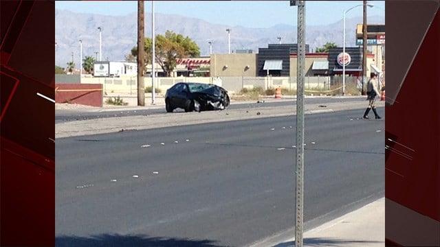 Fatal crash at Nellis Blvd. and Kell Lane | Photo: Armando Navarro/ FOX5