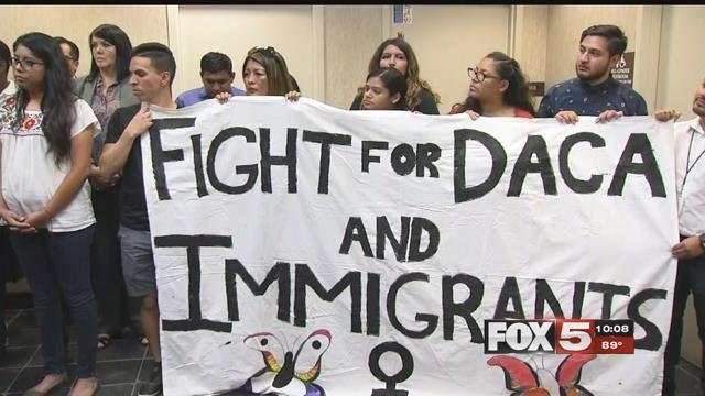 President Trump's decision to rescind DACA came as a blow to valley Dreamers. (FOX5)