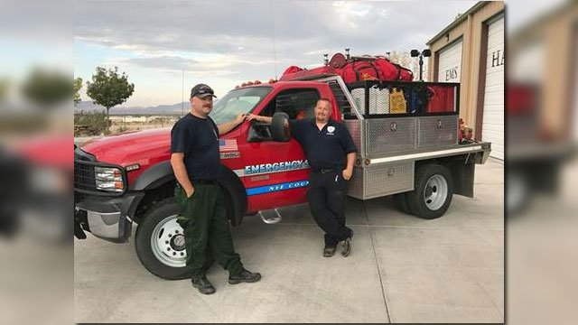 Two firefighters from Pahrump head to Idaho to assist with a wildfire. (Nye County/Facebook)