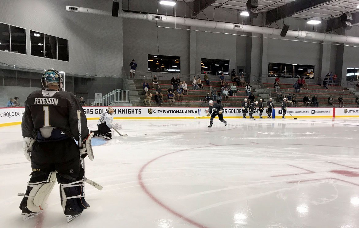 The Vegas Golden Knights Rookie Camp on Sept. 8, 2017. (Vince Sapienza)