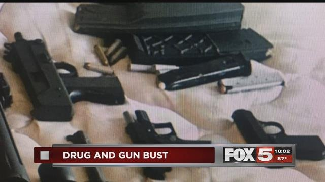 These are some of the weapons recovered at the suspect's home (FOX5).