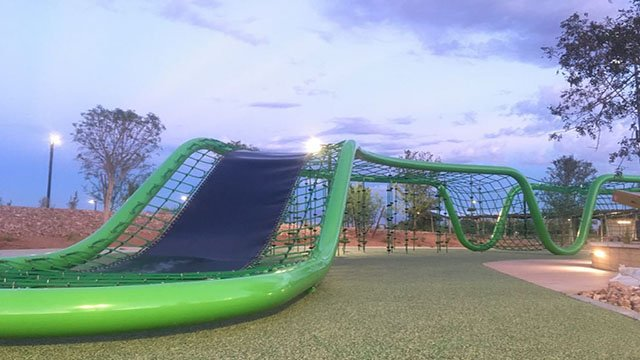 New slides at Adventure Park to open in Cadence community pictured here on Sept. 14, 2017. (Mike Doria/FOX5)
