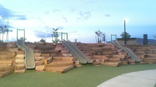 Multiple new slides at Adventure Park to open in Cadence community pictured here on Sept. 14, 2017. (Mike Doria/FOX5)