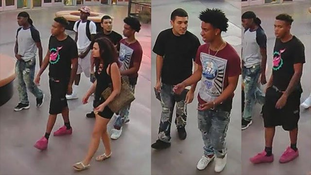 Police seeking assistance identifying these suspects wanted in connection with a violent incident on Las Vegas Boulevard Aug. 25, 2017. (LVMPD)