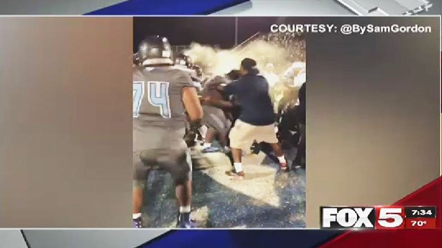 Pepper spray used to break up players' brawl after game""