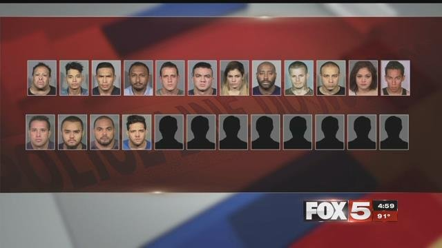 Twenty-four defendants were indicted for an auto accident scheme. (LVMPD)
