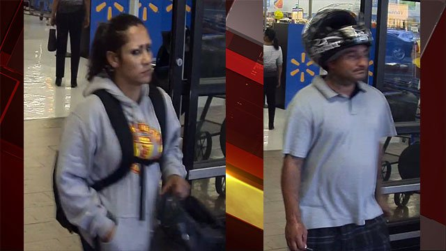 Henderson police seek these two suspects who snatched a woman's purse (HPD).