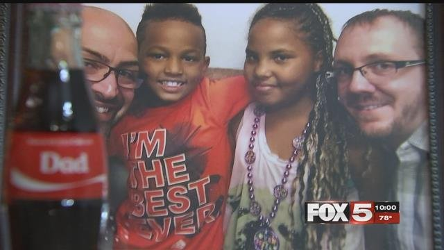 Joe and Tim Oddo adopted Zayne and Malaya in 2016 (FOX5).