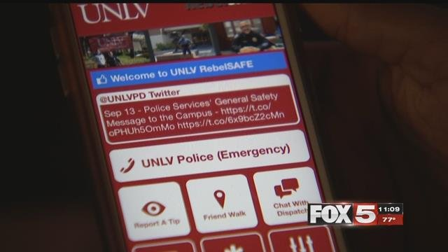 A new smartphone app was created to make the UNLV campus safer. (FOX5)