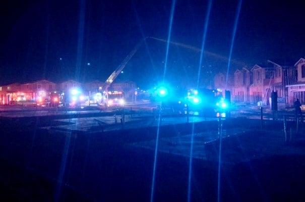 A fire damaged a construction site on Sept. 20, 2017. (Armando Navarro/FOX5)