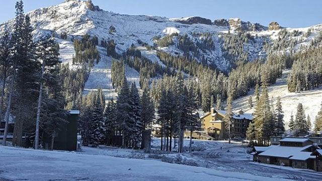 Snow fell in the Sierra Nevada on the last day of summer. (Kirkwood Mountain Resort/AP)
